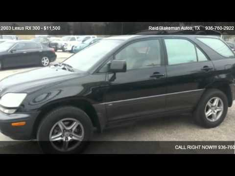2003 Lexus RX 300 2WD - for sale in Conroe, TX 77301