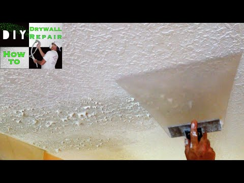 How to match knockdown texture on a drywall ceiling repair Tips, Tricks and Tools needed Diy Drywall