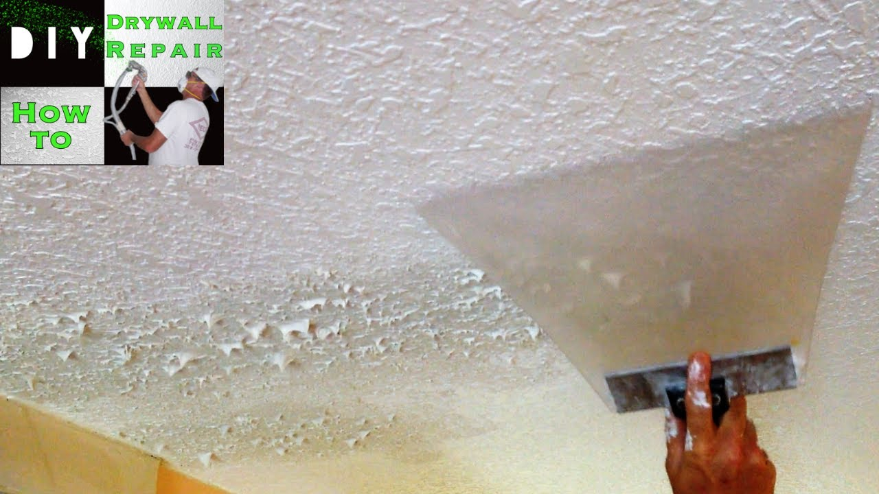 How To Match Knockdown Texture On A Drywall Ceiling Repair Tips