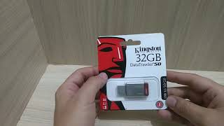 Reconocer memoria original Kingston Datatraveler 50  usb 32 gb