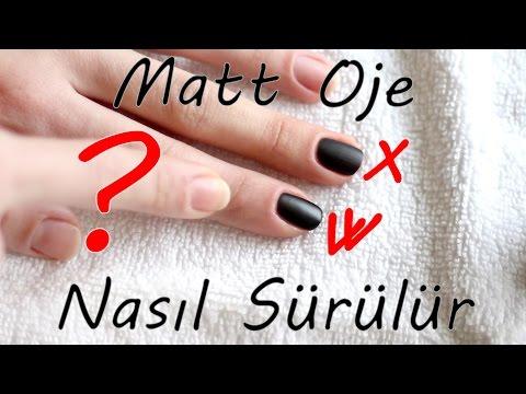 Mat Oje Nasıl Sürülür? How to use matt nail polish?
