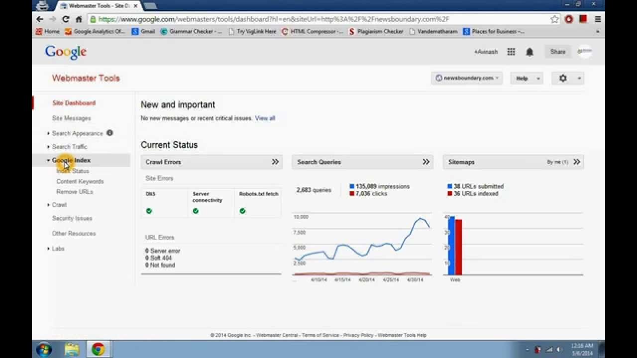 how to submit website sitemap xml to google webmaster tool youtube