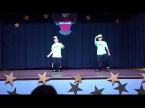 Sam and Braden in Alpharetta Elementary School Talent Show