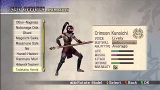 Samurai Warriors 2 Empires: Create-a-Warrior