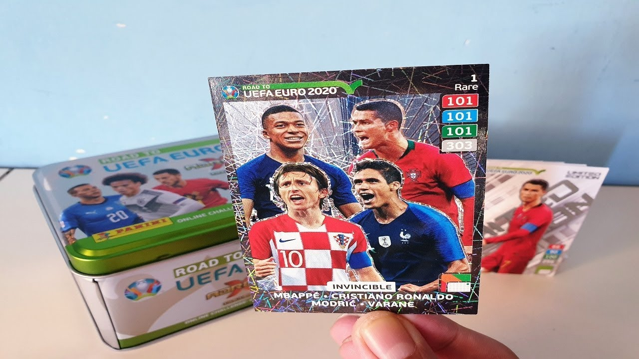 carte foot euro 2020 TIN BOX INVINCIBLE ! | ROAD TO UEFA EURO 2020 | ADRENALYN XL