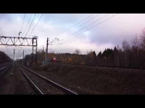 Прибытие петербургской электрички в Жилево с БМО