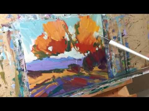 Oil Painting Tutorial - Impressionist Art Demo - Landscape Painting by JOSE TRUJILLO