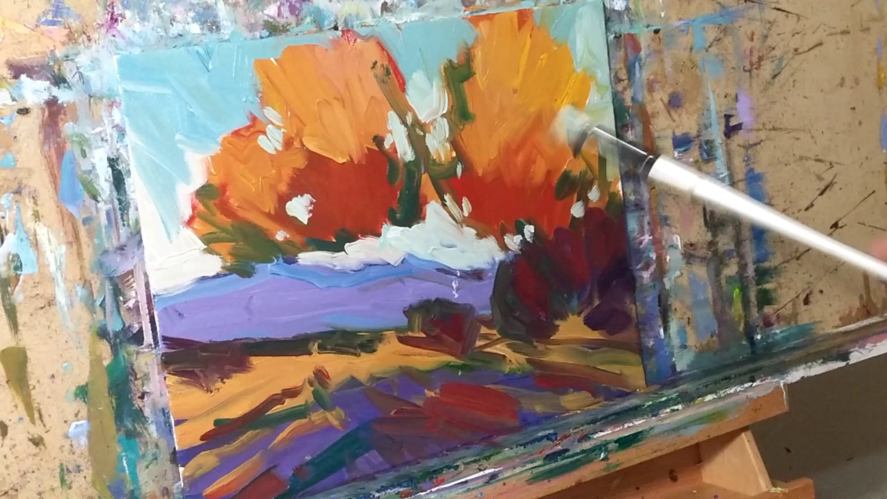 Painting A Loose Landscape In Acrylic