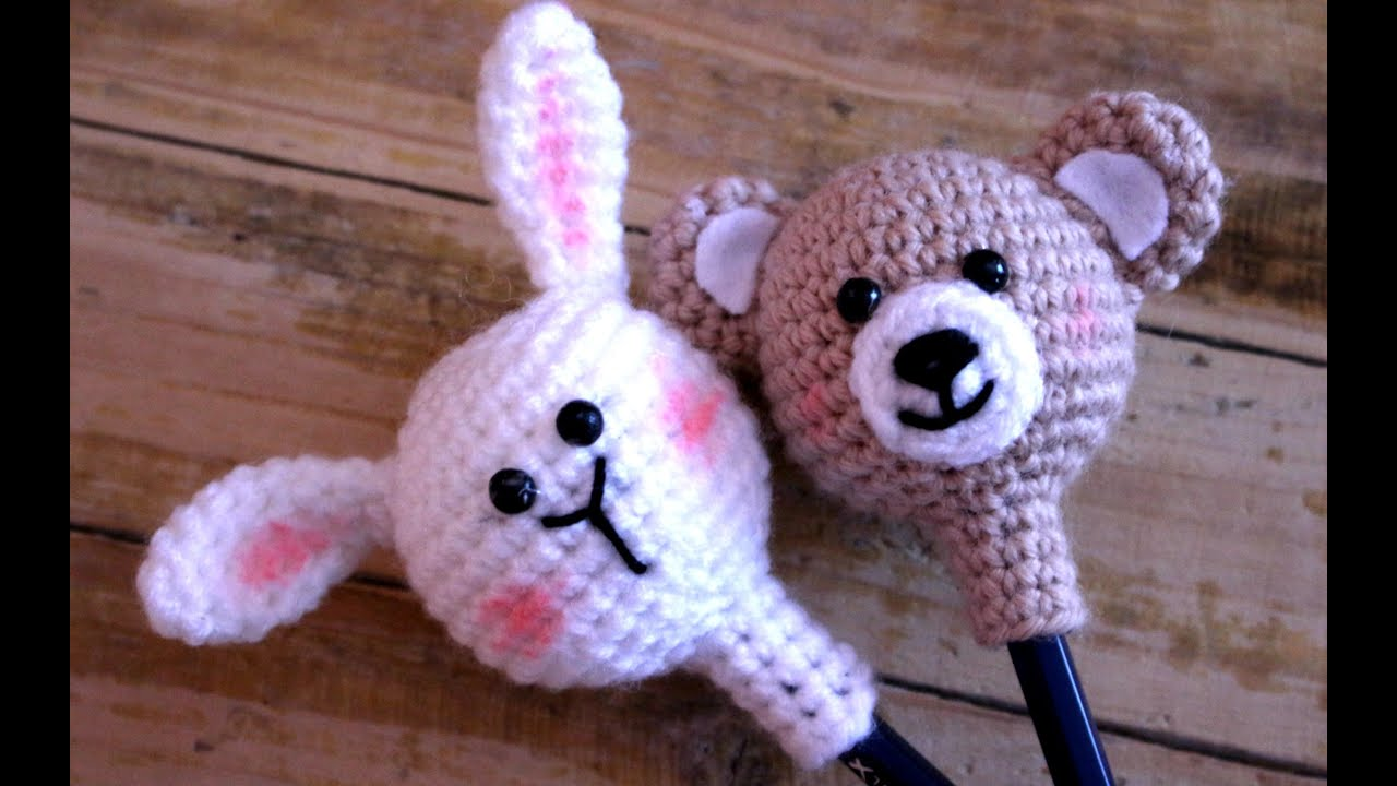 Amigurumi Bunny Pencil Holder : Back to school how crochet a pencil holder world of