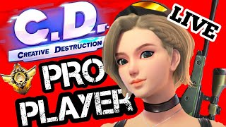 PRO Creative Destruction Mobile Player Live Gameplay!!!// Grinding Dubs With Subs!!!