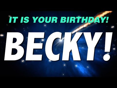 Happy birthday becky this is your gift youtube happy birthday becky this is your gift altavistaventures Images
