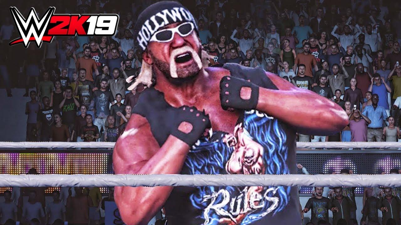 WWE 2K19 - Hollywood Hulk Hogan Entrance, Signature ...