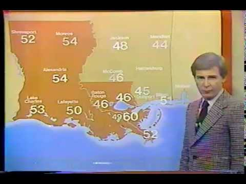WDSU -TV 2/27/81 Bart Darby's Final Broadcast New Orleans, La.