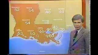 WDSU -TV 2/27/81 Bart Darby's Final Broadcast New Orleans, La.