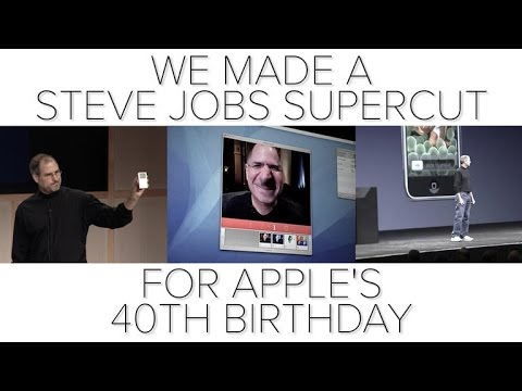 We made a Steve Jobs supercut for Apple's 40th birthday