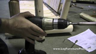 Log Porch Swing Assembly By Logfurnitureplace.com | Lakeland Mills Log Swing Assembly