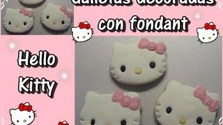 Hello Kitty : Galletas decoradas con Fondant
