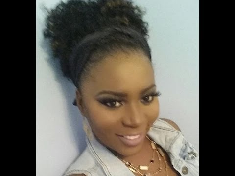 Crochet Hair Pulled Up : PKs Crochet Braids High Pony Tail - YouTube