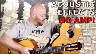 new yamaha transacoustic classical and parlor guitars | onboard effects - without an amp!