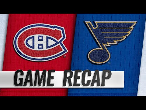 Sundqvist, Binnington pace Blues past Habs, 4-1