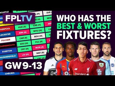 Who Has The Best Fixtures? | Gameweek 9-13 | FPL FIXTURE WATCH | Fantasy Premier League