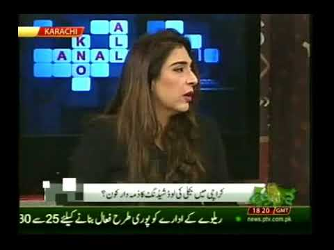 Dr Baig's live panel discussion on electricity & water crises in Karachi on PTV News on Friday 20th