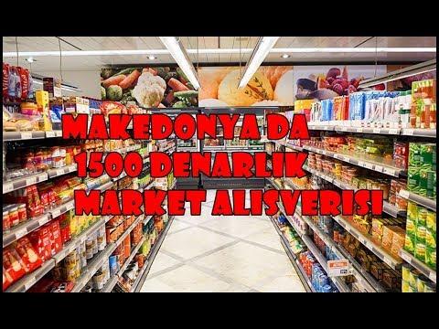 MAKEDONYA DA 1500 Denarlık Market Alışverişi