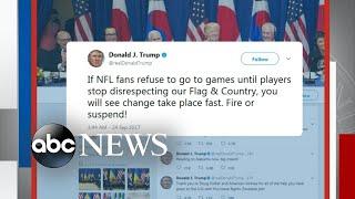 Trump takes on NBA and NFL stars