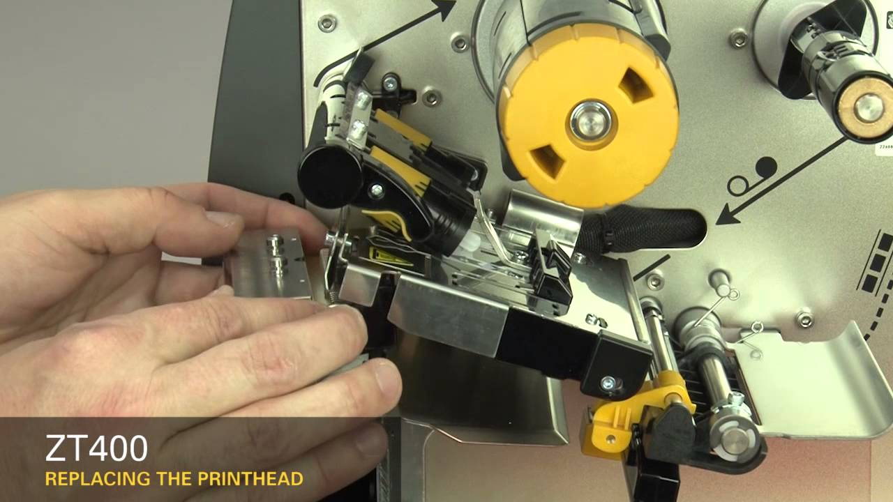 Zebra Zt400 Series How To Replace The Printhead Youtube
