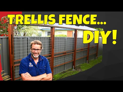 How to Build a Trellis Fence. Awesome, Easy to Build Project!
