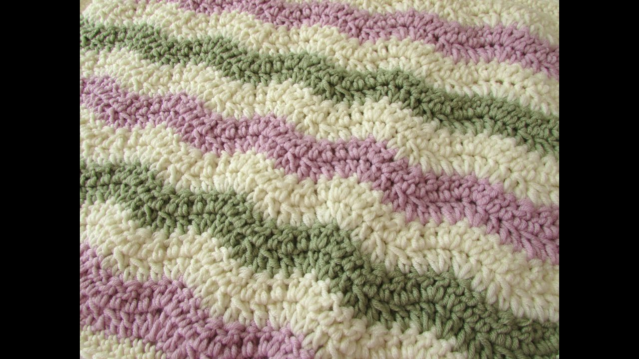 How to crochet a chevron wave blanket for beginners youtube bankloansurffo Image collections