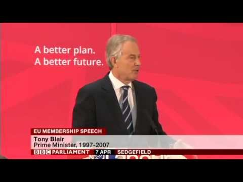 Tony Blair speech on EU Membership IN FULL, 7th April 2015
