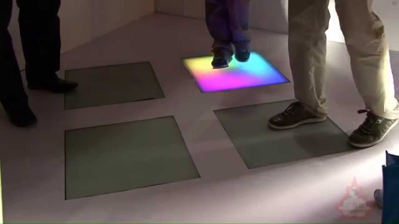 Interactive led floor tile youtube interactive led floor tile dailygadgetfo Image collections
