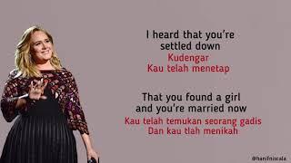 Adele - Someone Like You   Lirik Terjemahan