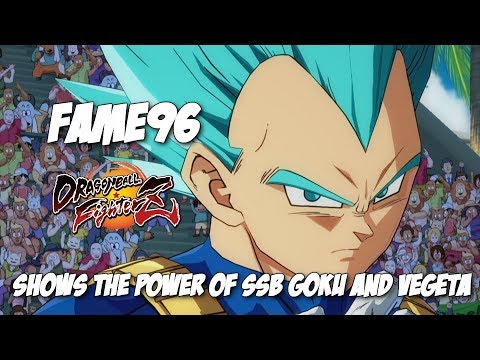Fame96 s the power of Super Sayian Blue!DBFZ