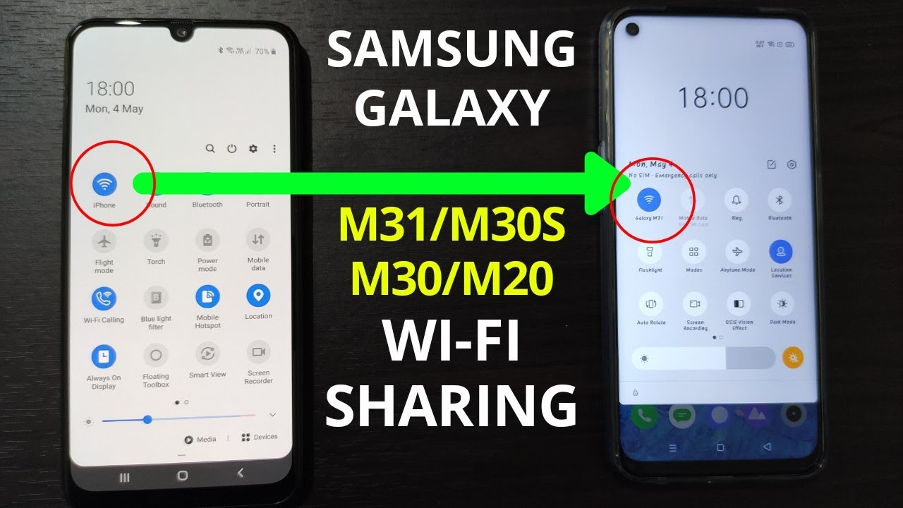 Samsung Galaxy M31 M30s M30 M20 Wifi Sharing Use Wifi And Hotspot At The Same Time Youtube