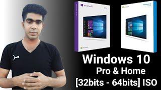 Gambar cover Download Original Windows 10 Pro Free [32bit & 64bit] Disc Image (ISO File) - Microsoft