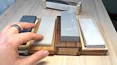 Заточка ножа камнем Boride T2 800 - YouTube