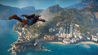 A quick action ride in Just Cause 3 - PC Version - Max Details (German)