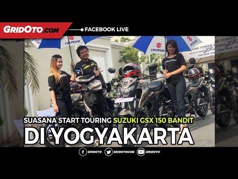 Suasana start Touring Suzuki GSX 150 Bandit di Yogyakarta, Menuju Cilacap