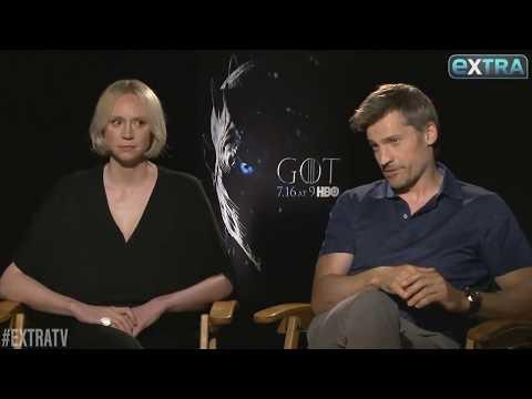 Gwendoline Christie and Nikolaj Coster-Waldau Discuss the Iron Throne