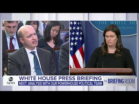 White House press briefing on Trump, Pres. Moon meeting and Korea Summit   ABC News