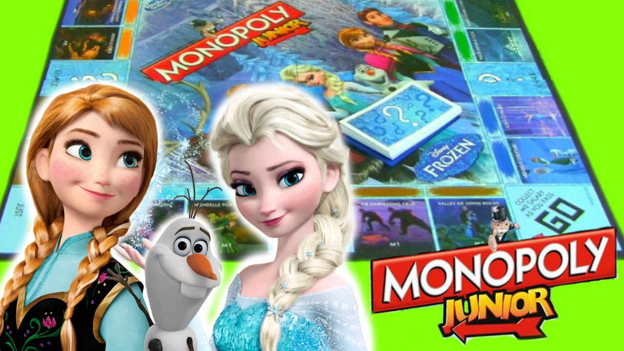 Frozen Monopoly Junior Family Game Night Kids Board Game Unboxing Toy Review Disney Frozen