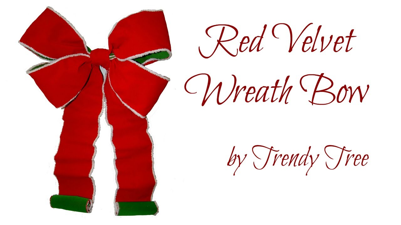 make a christmas wreath bow - How To Make A Christmas Bow For A Wreath