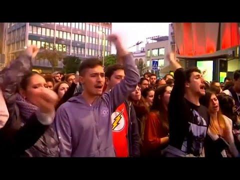 Dos detenidos en Cádiz en una multitudinaria manifestación contra Vox