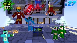 Avengers help Oggy | Oggy Ultimate Alien Part - 27 | Minecraft