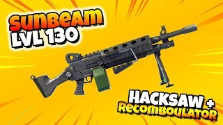 Level 130 SUNBEAM Hacksaw + Recombobulator IS INSANE! | Fortnite Save The World