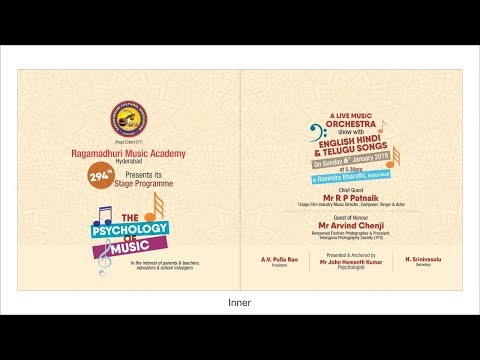 Watch Live | Ragamadhuri Music Academy Presents The Psychology of Music