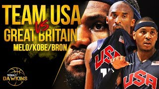 Melo, LeBron, Kobe, D-Will x 2012 Team USA DESTROY Great Britain | SQUADawkins