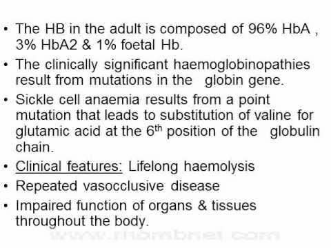 Types of Haemolytic Anaemia